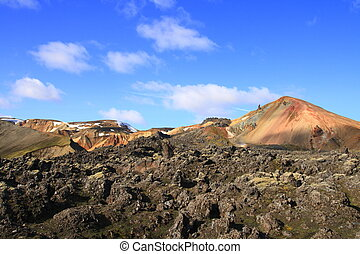 Landmannalaugar - The colorful rhyolite mountains of...