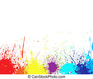 color splash - Color splash in abstract isolated on white...