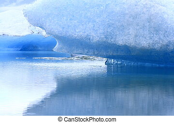 The Jokulsarlon lake is a glacial lake in Iceland