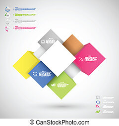 Infographic colorful cubes for data presentation eps10...