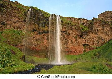 Seljalandsfoss is a waterfall in Iceland