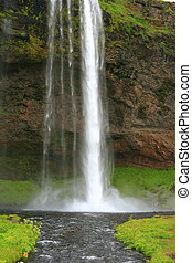Seljalandsfoss is a waterfall in Iceland