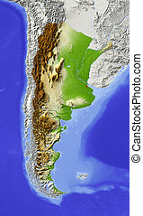 Argentina, shaded relief map - Argentina. Shaded relief map...