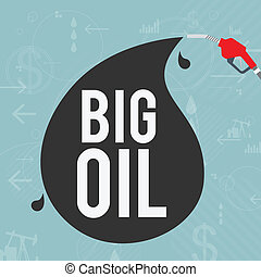 Big Oil Industry Concept - Vector illustration of big oil...