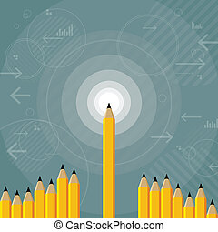 Sharpest Mind - Vector illustration of sharp mind and idea...