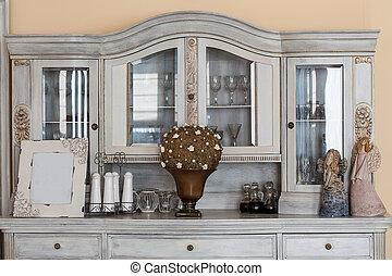 Mediterranean interior - classy shelf - Mediterranean...