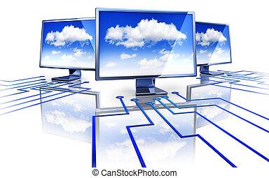 cloud computing - high resolution rendering of cloud...