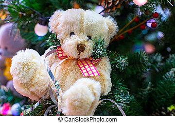 christmas teddy bear, background