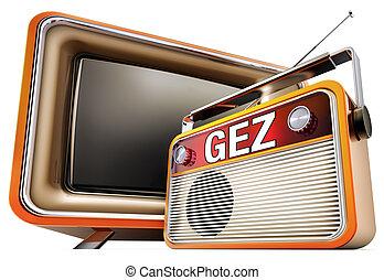 GEZ fees - 3D concept for german GEZ fees