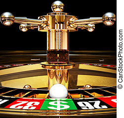 jackpot - high resolution rendering of roulette