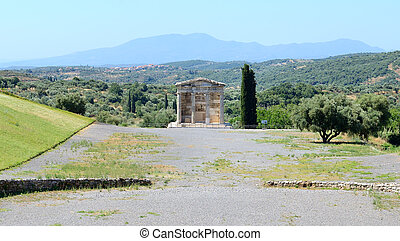 The mausoleum in ancient Messene (Messinia), Peloponnes,...