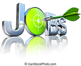 searching for jobs - 3D illustration of a job icon