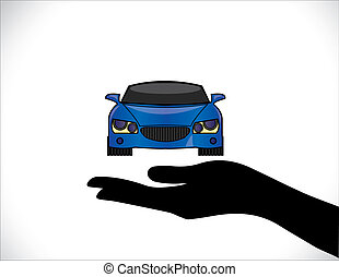 Concept Illustrations of a Car Insurance or Car Protection...