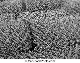 Rolled steel mesh - Rolled steel mesh background - texture