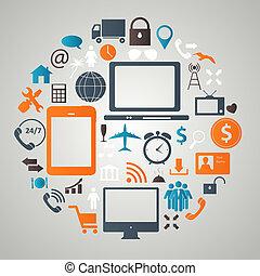 Social media concept vector illustration