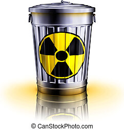 nuclear waste - 3D illustration of a nuclear waste concept