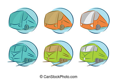 Vector set of vehicle icons