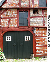 Half-timbered house in Lueneburg, Lower Saxony, Germany.