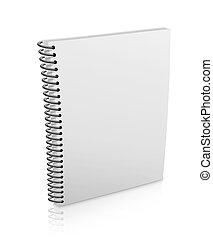 Spiral binder - Blank Spiral binder over white