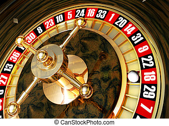 casino - high resolution rendering of a roulette