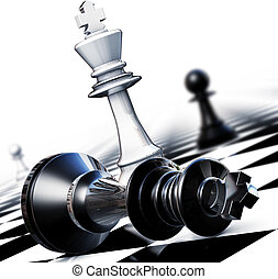 winner - 3D illustration of chess