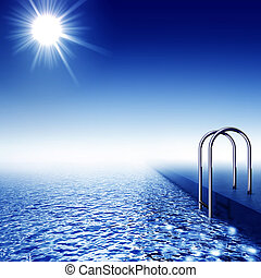 natação, piscina