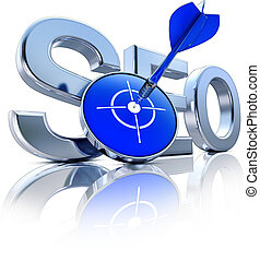 SEO - high resolution rendering of a SEO icon