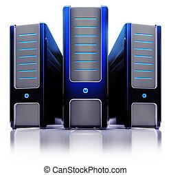 server - 3D illustration of a server concept