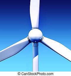windmill - 3D illustration of a windmill