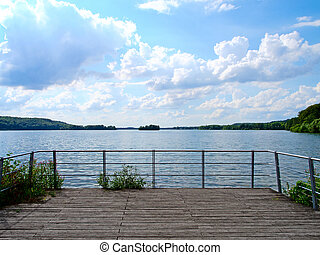lake shore terrace - a wooden terrace with a beautiful view...