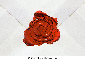 Envelope with E-mail sign - Empty envelope with e-mail sign...