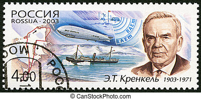 Rusia, -, 2003:, Dedicado, 100th, nacimiento, aniversario,...