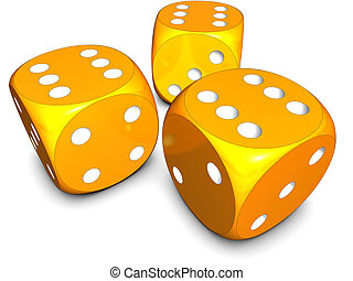 dices - 3D illustration of a gambling concept