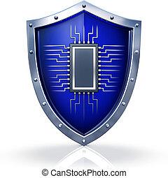 firewall - 3D illustration of a firewall concept