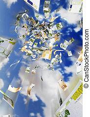 money rain - illustration of a money rain