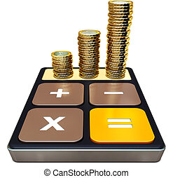making money - 3D illustration of calculation