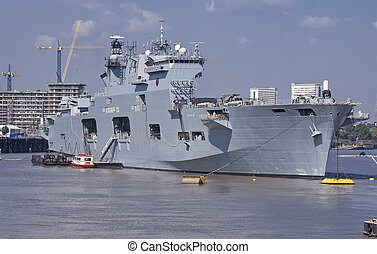 HMS Ocean at the 2012 Olympics - Britain's helicopter...