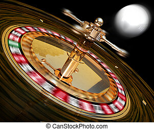 roulette - 3D illustration of a roulette concept