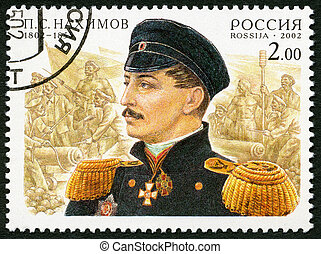 RUSSIA - CIRCA 2002: A stamp printed in Russia dedicated the...