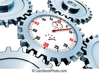 time concept - 3D rendering of a time concept