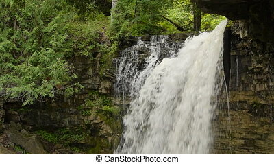 Hilton Falls Waterfall Medium Top - Medium shot of top of...
