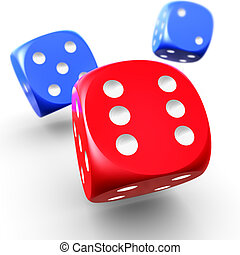 dices - 3D rendering of dices