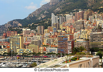 Urban buildings in Monte Carlo, Monaco.