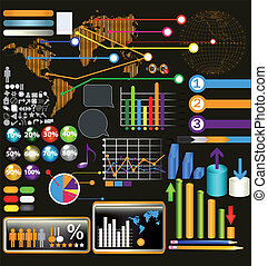 Collection of web and infographic - Set of web elements,...