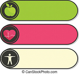 Health stickers - Health care stickers. Human health care...
