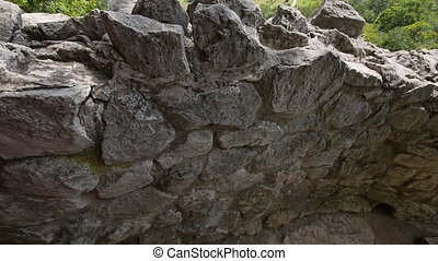 Rattlesnake Point Tilt Over Rocks - Tilt up from stone...