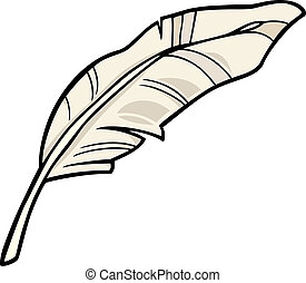 feather clip art cartoon illustration - Cartoon Illustration...