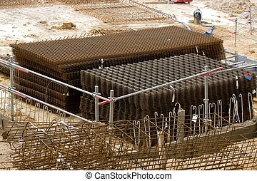Storage of steel reinforcement bar