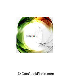 Abstract green wave swirl background