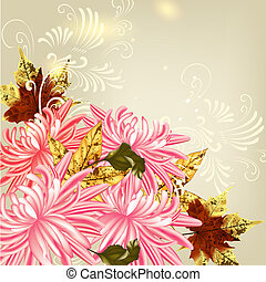 Vector floral background - Floral vector background with...
